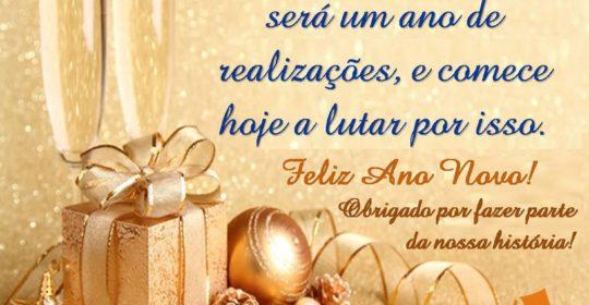 Feliz Ano Novo!!! Obrigado por fazer parte da nossa história!