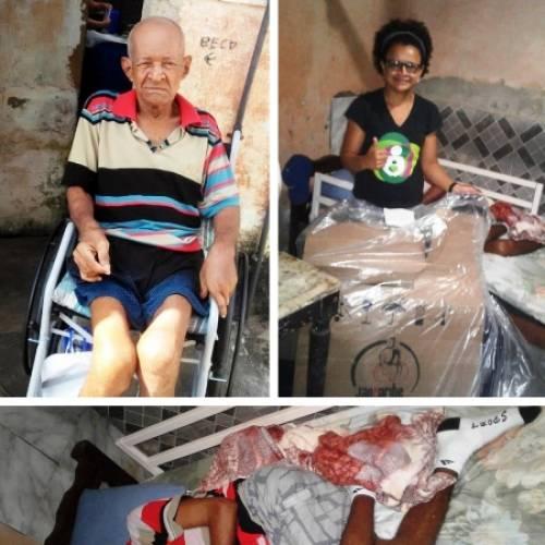 ONG/PE doa cadeira de rodas a idoso vítima de AVC e colabora com sua recuperação